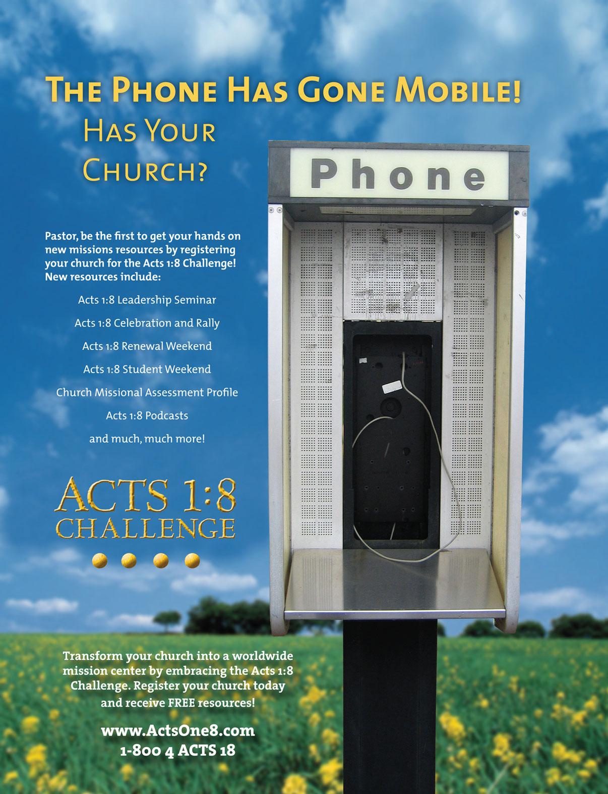 Acts 1:8 Magazine ad